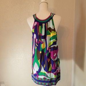 BCBG MAXAZRIA  Sz S Multi Color Mini Dress